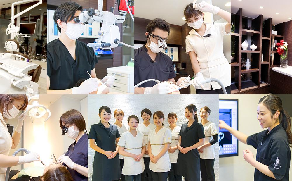 各科の専門医、認定医が連携し認定衛生士、認定技工士ともにチーム医療を行います